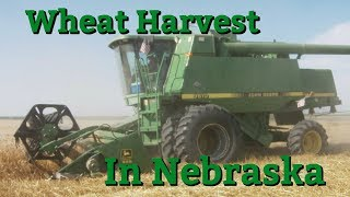 Wheat harvest in Nebraska