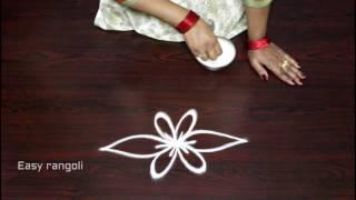 creative and easy rangoli side designs || side designs for kolam || muggulu side designs