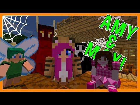 JINX'S HALLOWEEN PARTY!   Amy & Max! Ep.59   Minecraft