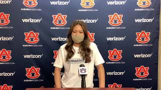 Olympic gold medalist Suni Lee addresses the media for the first time as an Auburn gymnast