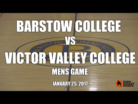 Barstow College vs Victor Valley College -  Men   01/25/17