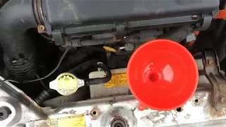 Замена охлаждающей жидкости (антифриза) двигателя (блока цилиндров) Тойота Приус 20