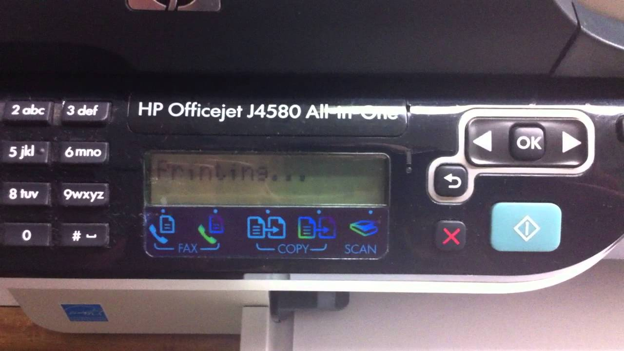 Hp Officejet J4580 All In One Printer Youtube