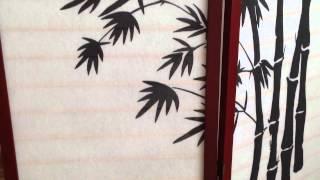 Ширма «Стим»(Декоративная ширма с изображением стеблей бамбука на флизелиновой ткани, натянутой на каркас из натуральн..., 2015-05-14T17:07:59.000Z)