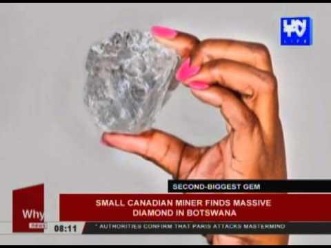 Small Canadian miner finds massive diamond in Botswana