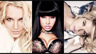 Brittany Spears Ft. Nicki Minaj & Kesha Till The World Ends Remix w/Lyrics