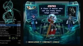 Mega Man X8 100% speedrun in 1.24:44