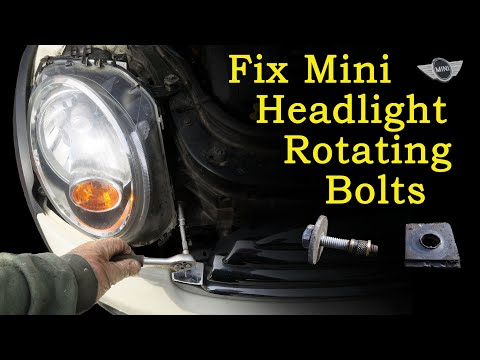How to Fix the Mini Headlight Bolts Rotating (when they won't come out!)