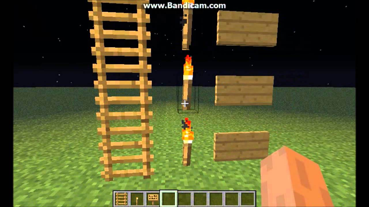 Minecraft Floating Ladders Torches And Signs Glitch