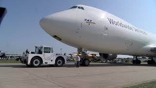 Zapętlaj EAA Live - UPS 747 Arrivial - AirVenture 2019 | EAA