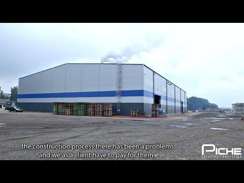 Piche Ltd. client testimonial - industrial building construction and warehouse reconstruction