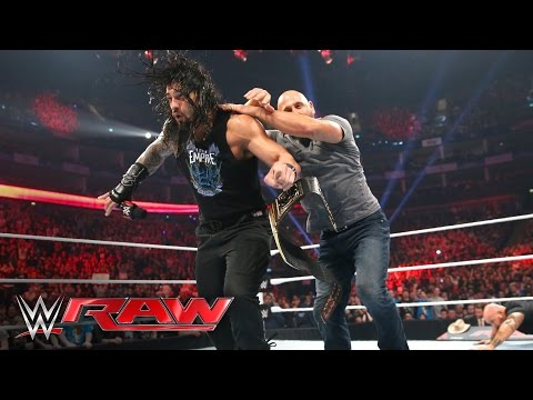 Luke Gallows & Karl Anderson attack Roman Reigns: Raw, April 18, 2016
