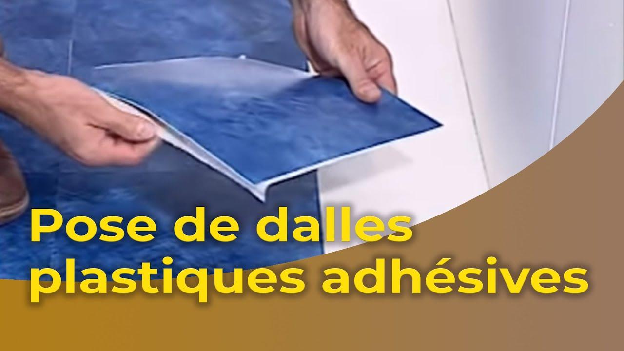 La Pose De Dalles Plastiques Adhesives Youtube