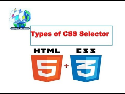 3) Types Of CSS Selector In Hindi/urdu