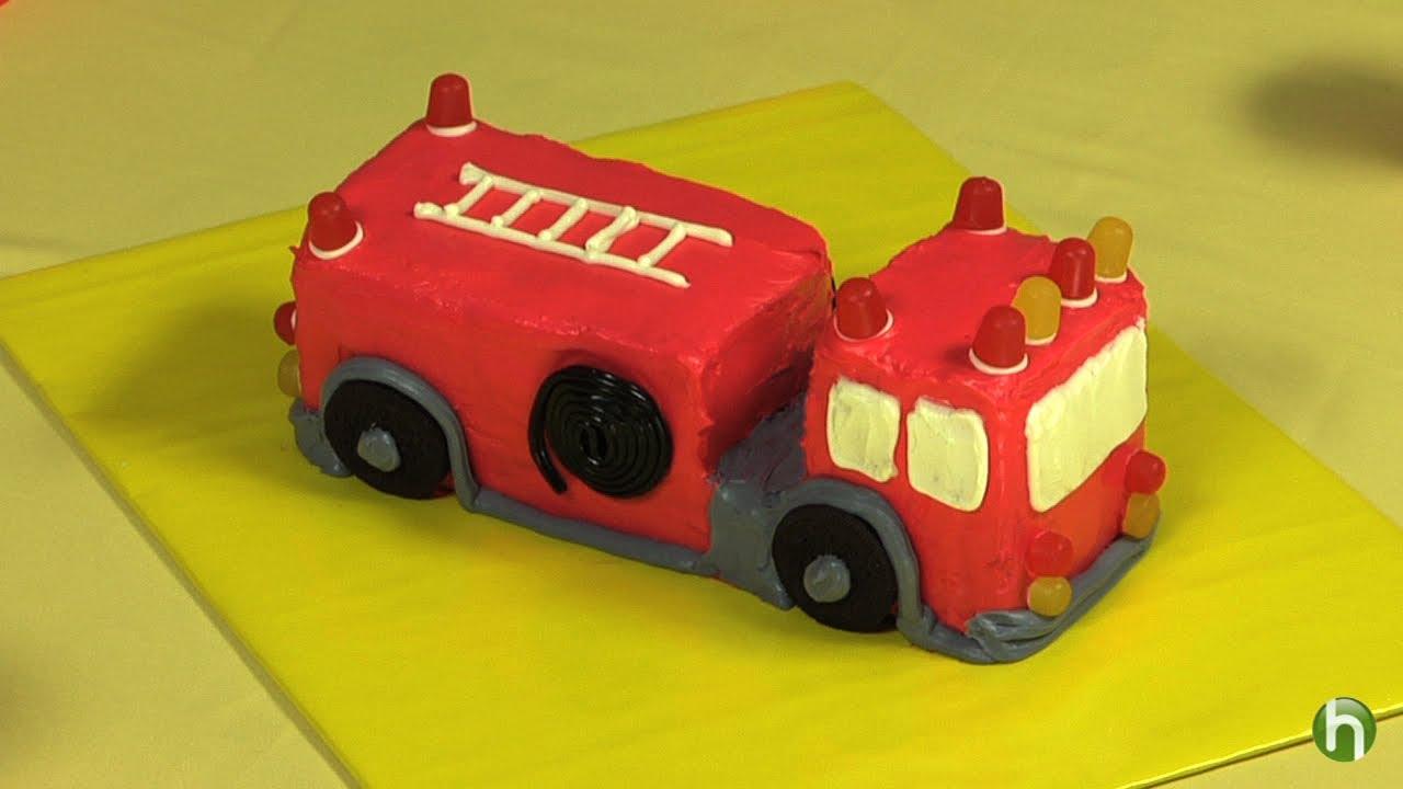 Worksheet. Cmo hacer un pastel con forma de carro de bombero  YouTube