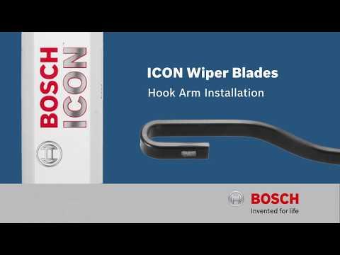 Bosch ICON: Hook Arm Wiper Blade Installation