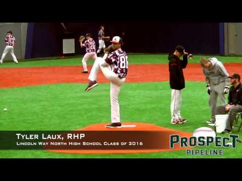 Tyler Laux Prospect Video, RHP, Lincoln Way North High School Class Of 2016