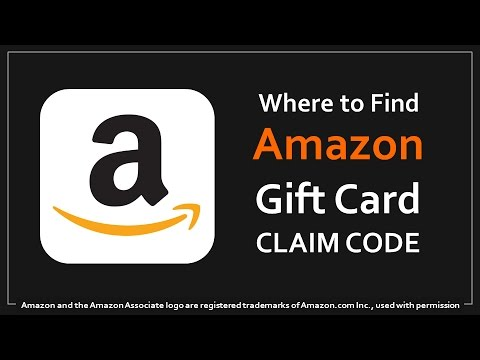 Where to Find Amazon Gift Card Claim Code