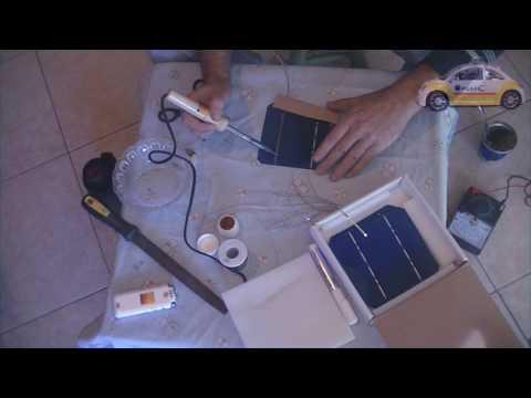 Construiccion de panel solar   Soldado de las barras
