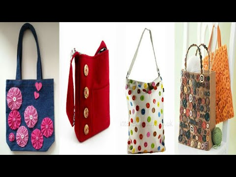 DIY handmade button bag ideas for girls -easy and creative button craft