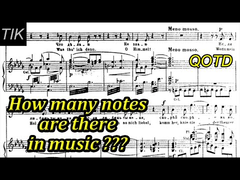 How Many Notes are there in Music??? QUESTI OF THE DAY #12