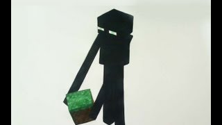 How to Draw/Paint Enderman - Minecraft
