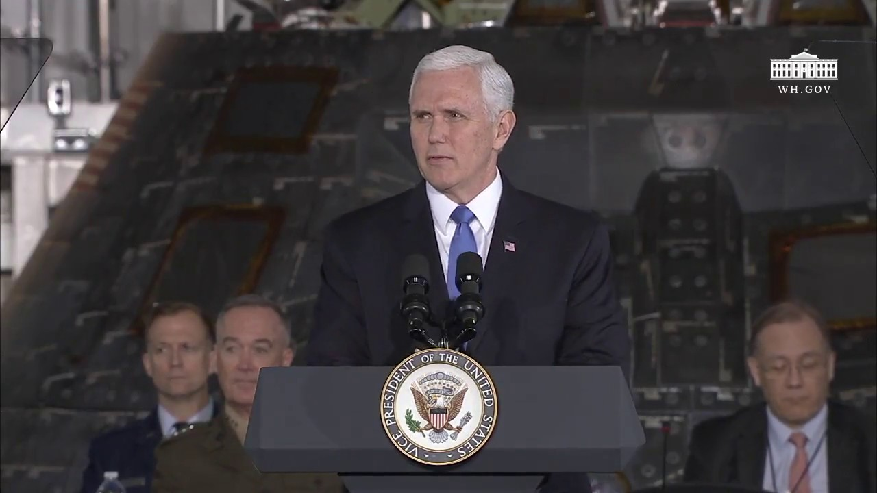 Vice President Pence Delivers Remarks at the Second Meeting of the National Space Council