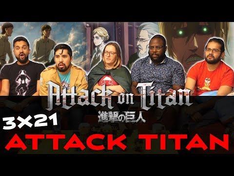 Attack on Titan - 3x21 Attack Titan - Group Reaction