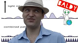 Explaining Diffraction to flat earth debate show host Nathan Oakley