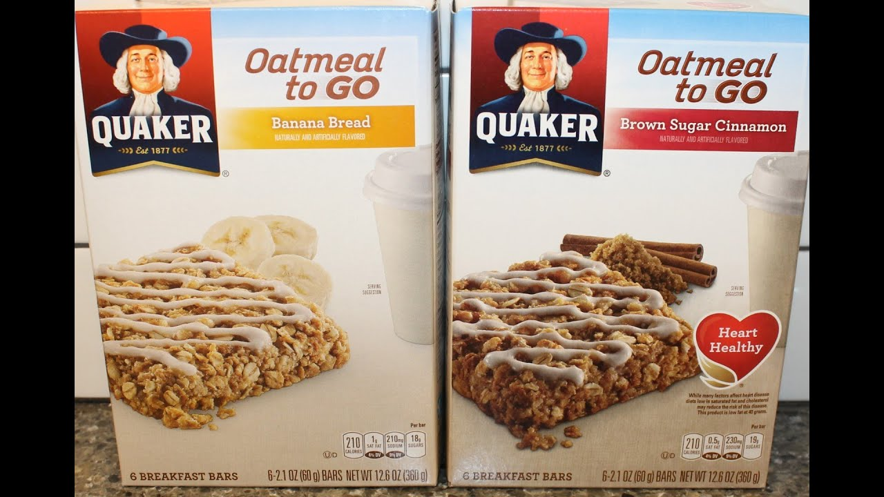Quaker Oatmeal To Go: Banana Bread and Brown Sugar ...
