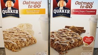 Quaker Oatmeal To Go: Banana Bread And Brown Sugar Cinnamon Bars Review