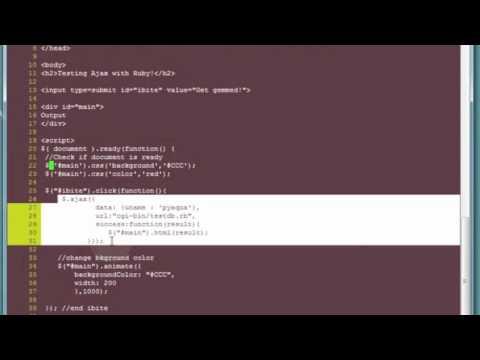 Jquery-Ajax & python / ruby - cgi
