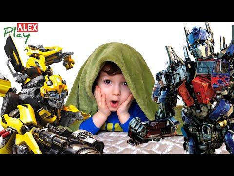 Трансформеры Бамблби и Оптимус Прайм, трансформеры игрушки. Видео с трансформерами для детей 0+