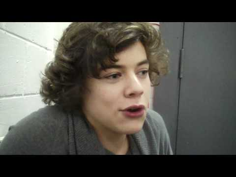 One Direction's Harry Styles talks first snogs, celeb crushes and man love!