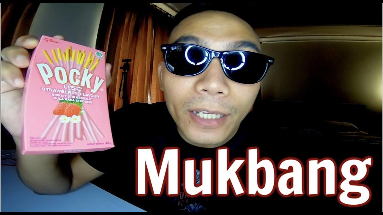 Daily Vlog 106 - Mukbang Pocky rasa Strawberry
