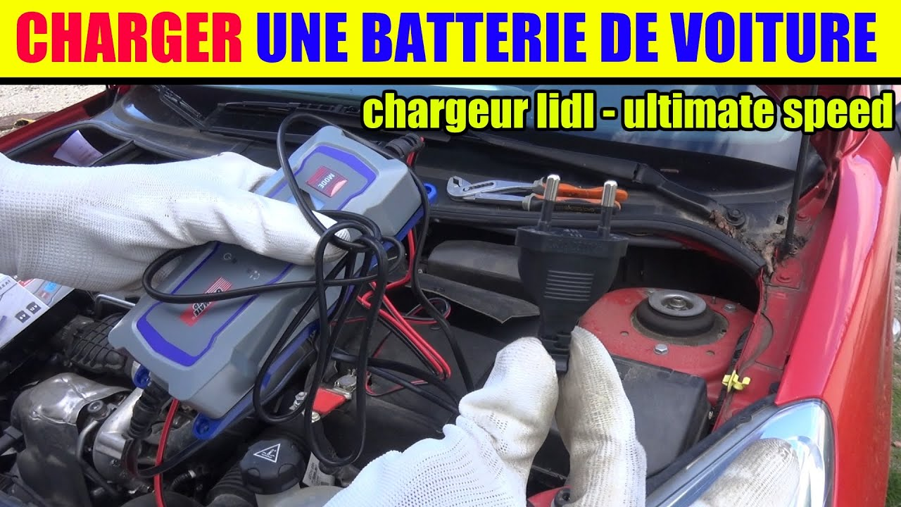 charger une batterie voiture chargeur lidl ultimate speed. Black Bedroom Furniture Sets. Home Design Ideas