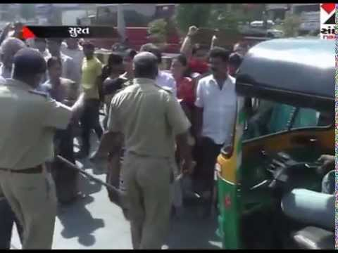 Surat : Udhna Road block by public