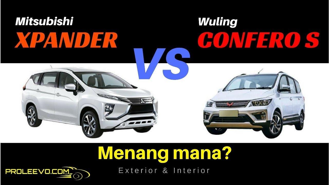 Mitsubishi xpander vs wuling confero s exterior for Exterior xpander ultimate