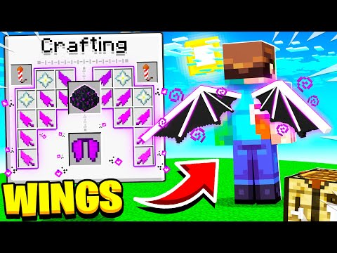 How to CRAFT WINGS in Minecraft to FLY!