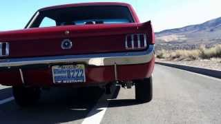 1965 mustang inline 6 with a single flowmaster