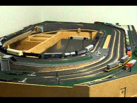 N-SCALE model railroad train layout w/sounds added #3