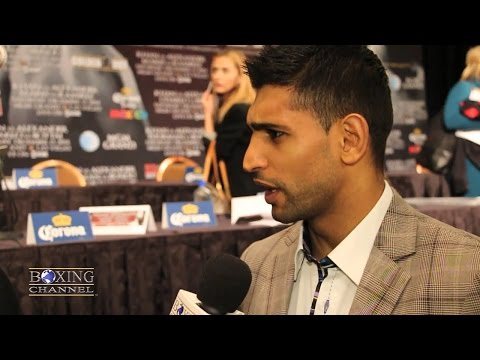 "Amir Khan "" Bradley didnt take fight twice"" Says he will wear $50k gold shorts for fight"