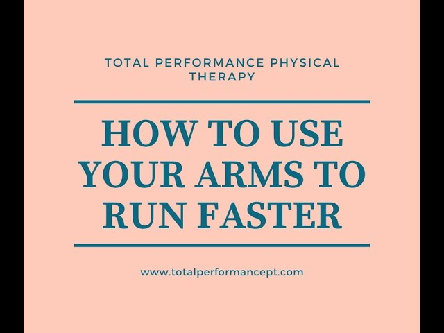 How to use your arms to run faster