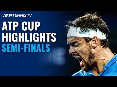 Medvedev, Zverev, Fognini, Rublev Fight For Final Spot | ATP Cup 2021 Semi-Final Highlights