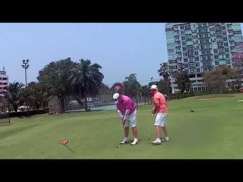 9th Hole Dave Childs Birdie Putt Asia Pattaya Golf Course Thailand