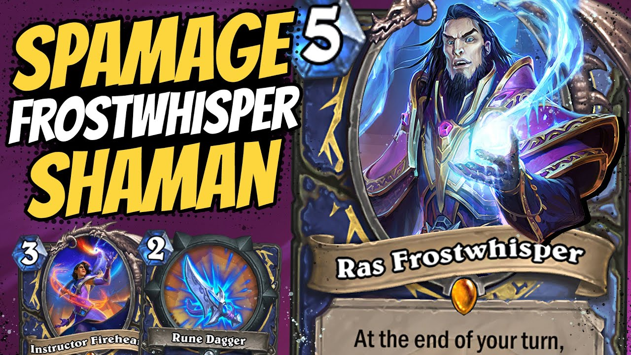 UNLEASH THE SPAMAGE!! Frost & Fire in Spell Damage Shaman! | Scholomance Academy | Hearthstone