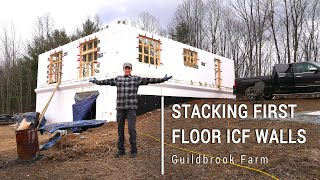 ICF Mountain Homestead: Stacking the First Floor Insulated Concrete Forms