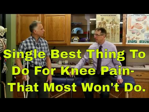 Single Best Thing To Do For Knee Pain - That Most Won't Do