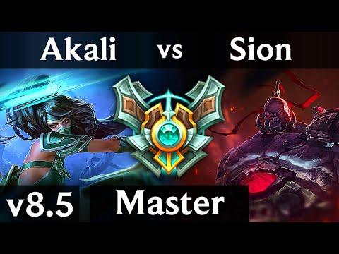 AKALI vs SION TOP  Korea Master  Patch 85