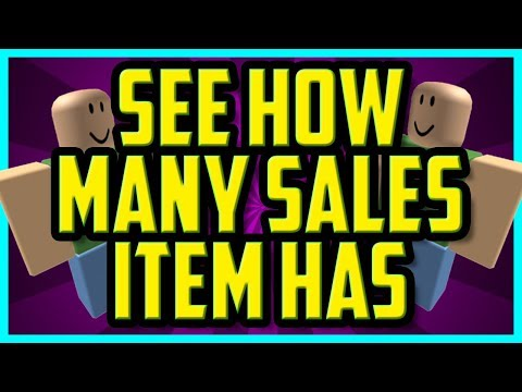 Roblox How To See How Many Sales An Item Has Easy Roblox Item
